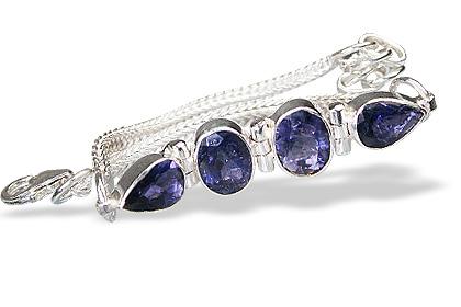 Design 784: blue iolite bracelets