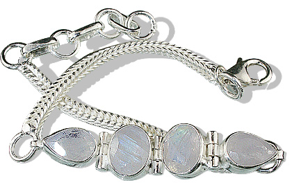Design 787: white moonstone bracelets