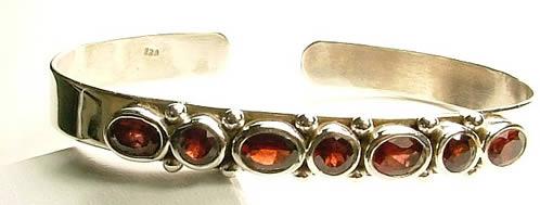 Design 795: red garnet bracelets