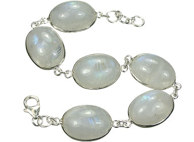 Design 7969: white moonstone contemporary bracelets