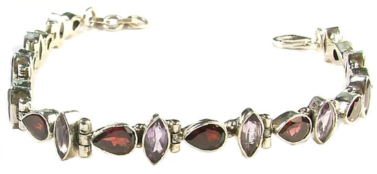 Design 799: purple,red garnet bracelets