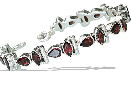 Design 802: red garnet bracelets