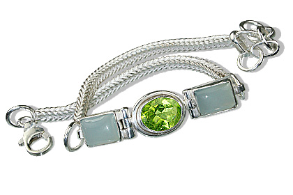 Design 803: blue,green peridot bracelets