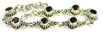 Design 8097: red garnet bracelets