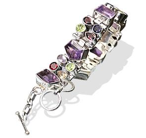 Design 8103: green,purple,red multi-stone bracelets
