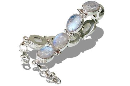Design 8107: white moonstone bracelets