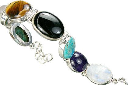 Design 8120: multi-color multi-stone bracelets
