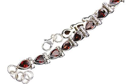 Design 8122: red garnet drop bracelets
