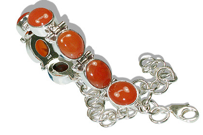 Design 8139: red carnelian bracelets