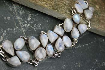 Design 8140: white moonstone bracelets