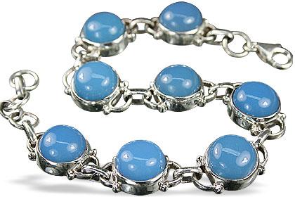Design 8142: blue chalcedony bracelets