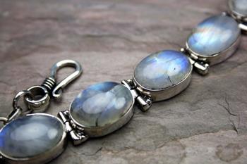 Design 8144: white moonstone bracelets