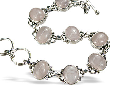 Design 8146: white rose quartz bracelets