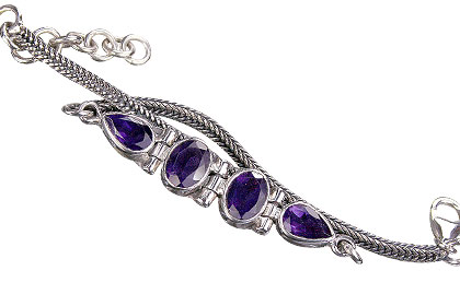 Design 828: purple amethyst art-deco bracelets