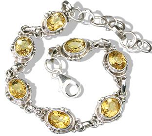 Design 830: yellow citrine engagement, estate bracelets