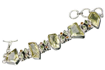 Design 8313: yellow multi-stone bracelets