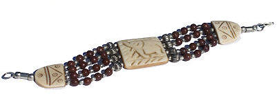 Design 88: red jasper multistrand bracelets