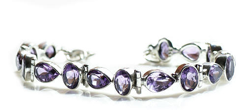 Design 8950: purple amethyst bracelets