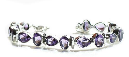 Design 8950: purple amethyst bracelets