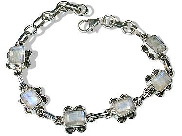 Design 8952: white moonstone bracelets