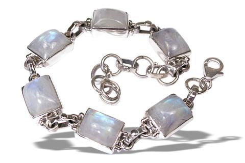 Design 8953: white moonstone bracelets