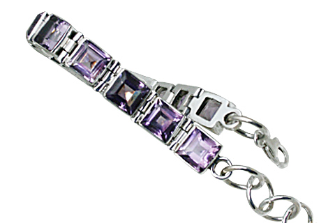 Design 8990: purple amethyst tennis bracelets