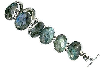 Design 8992: blue,green,gray labradorite art-deco bracelets