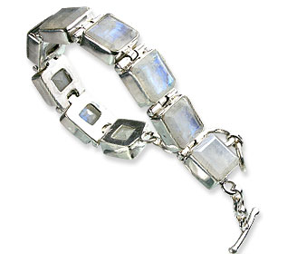 Design 8996: white moonstone bracelets