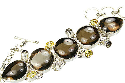 Design 9002: brown smoky quartz bracelets