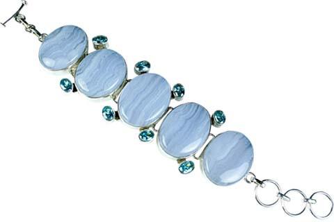 Design 9006: blue multi-stone chunky bracelets