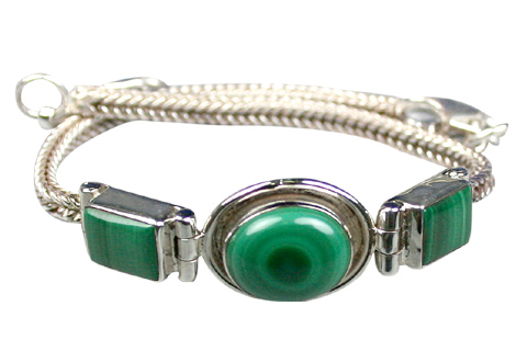 Design 9100: green malachite american-southwest bracelets