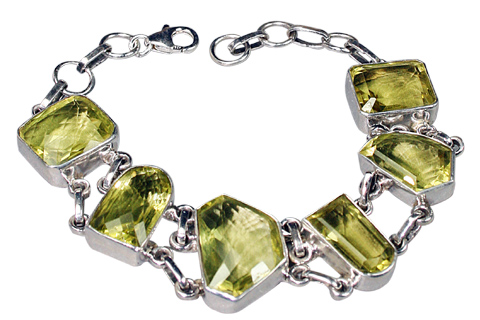 Design 9127: green,yellow lemon quartz bracelets