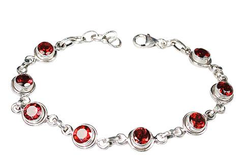 Design 9138: red garnet bracelets