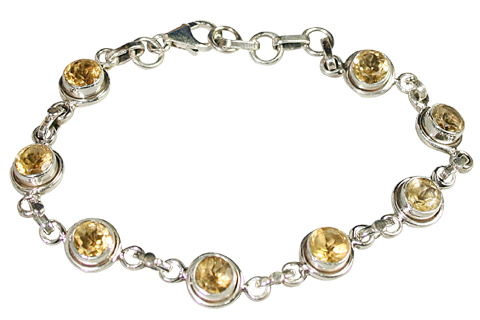 Design 9142: yellow citrine bracelets