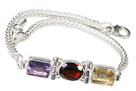 Design 9148: purple,red,yellow amethyst bracelets