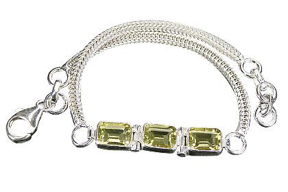 Design 9153: yellow lemon quartz bracelets