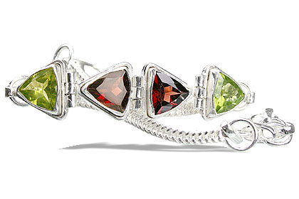 Design 964: green,red peridot bracelets