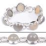Design 18332: white moonstone bracelets