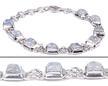 Design 18335: white moonstone bracelets
