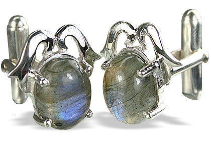 Design 14780: gray labradorite cufflinks