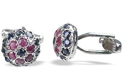 Design 14786: multi-color multi-stone cufflinks