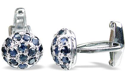 Design 14789: blue sapphire cufflinks