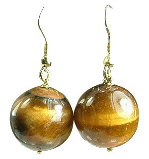 Design 1033: brown tiger eye chunky earrings