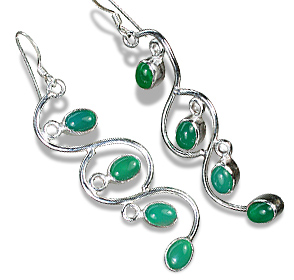 Design 1152: green onyx art-deco earrings