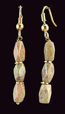 Design 1357: brown unakite earrings