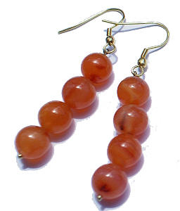 Design 1371: orange carnelian halloween earrings