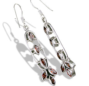 Design 13908: red garnet earrings