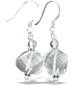 Design 14004: white moonstone earrings