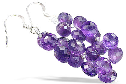 Design 14067: purple amethyst earrings