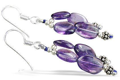 Design 14082: purple amethyst earrings